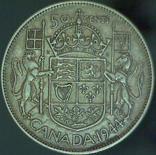 1944 Canadian Silver 50 Cent Coin (Near) - 11.66 Grams -#1148