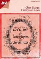 Joy Crafts Clear Rubber Stamps Christmas Frames   6410/0115 Reduced