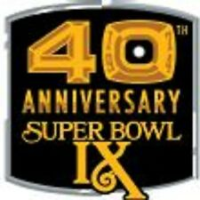 PITTSBURGH STEELER 40TH ANNIVERSARY SUPER BOWL IX PATCH  TIME FOR THE PLAYOFFS