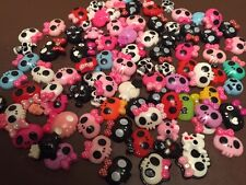 A Mixture Of 12 Pieces Of Skull Flatback Resin ideal for any crafts