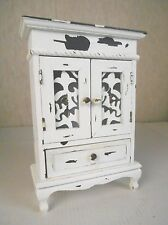 CHIC SHABBY DISTRESSED TABLETOP DRESSER CABINET ARMOIRE DISPLAY