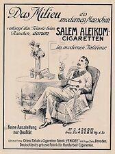 1909 Salem Aleikum Cigaretten Das Milieu Yenidze 14x20 cm original Printwerbung