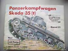 Waffen-Arsenal 21 mit Poster Panzerkampfwagen Skoda 35t