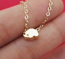 Cute Tiny Hedgehog Silver or Gold Plated Necklace Fast shipping from USA