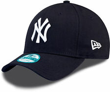 New Era 9FORTY MLB New York Yankees Logo Navy Blue Curved Peak Hat Baseball Cap