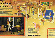 PUBLICITE ADVERTISING 064 1976 VILLEROY & BOCH salle de bain   (2 pages)