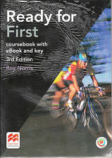 Macmillan READY FOR FIRST FCE 3rd Ed COURSEBOOK with Online Access +Key+MPO @New