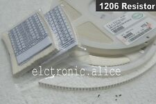 640pcs 1206 3216 64 values 1R  - 10MR 1/4w 5% SMD CHIP Resistors Assortment  Kit