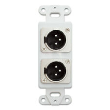Decora Wall Plate Insert, White, Dual XLR Male to Solder Type    301-2006