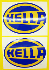 Classic Car Rally/Race HELLA sticker set x2 GLOSS LAMINATED