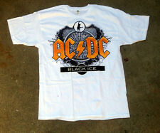 AC/DC Black Ice Logo White Tee Shirt Brand New Size Large Very Cool