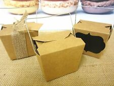 40x SMALL BROWN PAPER KRAFT CRAFT NOODLE BOXES LOLLY CANDY BAGS BOX 8oz