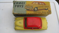 CORGI 203 VAUXHALL VELOX ORIGINAL PLAYWORN SALOON FROM 1959 IN ORIG DAMAGED BOX.