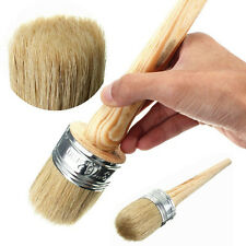 50mm Round Long-handled Pure Bristle Painting Brush Useful Painting Supplies