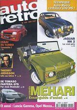 AUTO RETRO n°199 MAI 1997 R5 TURBO JAGUAR MK2 DE TOMASO PANTERA GTS MEHARI