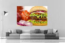 HOME HAMBURGER Da parete Arte Poster Grande formato A0 Larghezza Stampa