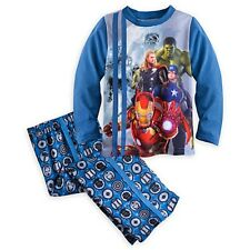 NEW  DISNEY STORE BOYS Costume Pajamas AVENGERS AGE OF ULTRON MARVEL PJ PALS  4