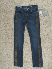 7 For All Mankind Girls Straight Leg Blue Jeans - Size 10 - NWT
