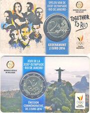 2 Euro Gedenkmünze 2016 Belgien Team Rio Coincard