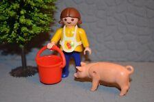 6216 playmobil kind met varken boerderij farm