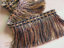 "5 YARDS of 3 1/2"" Black/Gold Cut Brush Fringe ~ Trim Lampshades Throws Drapery"