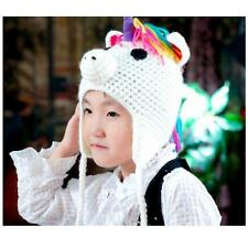 Cute Baby Boy/Girl/Toddler Unicorn Knit Crochet Hat Children Beanie Cap EI8N