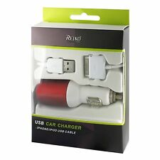 Fashionable USB Car Charger with USB Data Cable for AT&T Apple iPhone 4 16GB 32G