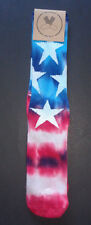 "MENS FOR YOUR FEET ""NEW"" STARS & STRIPES TIE DYE SOCKS ONE SIZE"