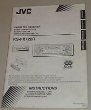 Manuale di istruzioni/operating instructions JVC autoradio ks-fx722r