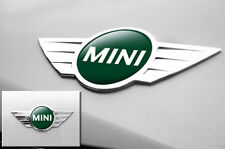 "Mini Cooper 1.75"" Inch Logo Emblems Decals x2 Vinyl Stickers for Badges DARK GRN"