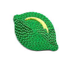 FRUIT/LIME GREEN EMBROIDERED IRON ON APPLIQUE PATCH