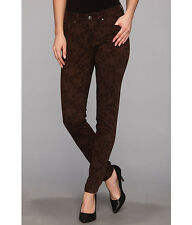 Sexy New $84 jag CHLOE Kingston Plaid  Stretch Low Skinny  java brown jean sz 8
