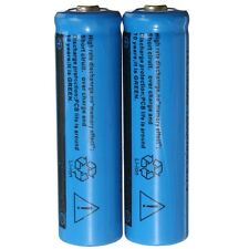 New 2 Pcs 3.7V 1200MAH 14500 AA Li-ion Rechargeable Battery Blue