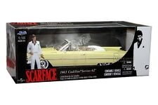 1963 CADILLAC SERIES 62 SCAR FACE 1/18 DIE CAST LIMITED EDITION 90003 W/ FIGURE