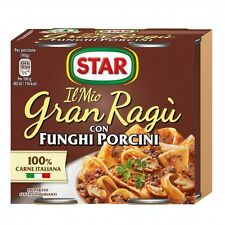 GRAN RAGU STAR CON FUNGHI PORCINI GR.180   KIT DA  19X2       TOTALE 38 LATTINE