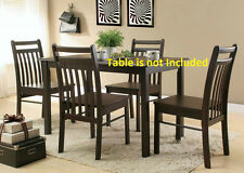 Modern Unique Framed Cappuccino Finish Casual Dining room Chairs Furniture