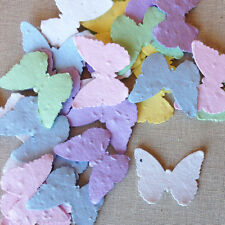 Assorted Pastel Butterfly Shape Plantable Seed Recycled Paper Confetti 100 Pack