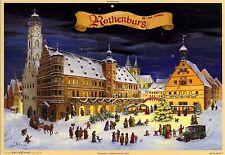 Weihnachten in Rothenburg ob der Tauber. Adventskalender Kunstverlag Meißen