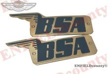 NEW PAIR BSA BRASS MADE PETROL TANK BADGES 29-7910, 67-8017 A7 B31 M21 C11 MODEL