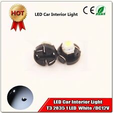 2PCS White 1SMD LED T3 Neo Wedge Dash DC Climate Control Light Switch Bulbs 8mm