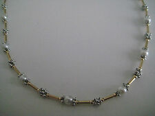 9ct yellow & white gold grape cluster pearl necklace NEW