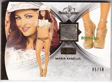 2013 BENCHWARMER GOLD EDITION HIGH HEEL: MARIA KANELLIS #5/50 WORN SWATCH WWE