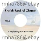 Sheikh Saad Al Ghamdi Full Quran Recitation mp3 CD (no translation) Islam