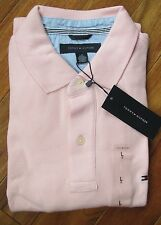 New With Tags Tommy Hilfiger Ivy Men's Muscle Polo Shirt T Top L Large Pink