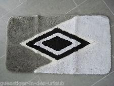 Badematte Badvorleger Badteppich schwarz/ grau 49 x 89 cm NEU