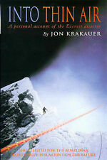 Into Thin Air: Personal Account of the Everest Disaster by Jon Krakauer (Pape...
