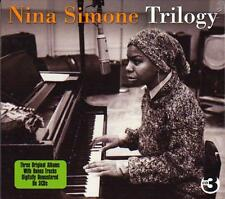 NINA SIMONE - TRILOGY - 3 ORIGINAL ALBUMS PLUS BONUS TRACKS (NEW SEALED 3CD)