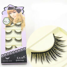 5 Paar Lang Soft Dick Kreuz Falsche Wimpern Makeup False Eye Lashes IMAX