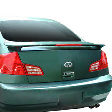 PRIMER for INFINITI G35 4DR 2003-2006 SPOILER WING NEW W/3RD BRAKE LIGHT