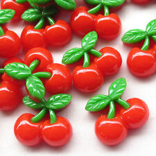 20pcs Red Strawberry Resin Flatback Button Cover DIY Craft